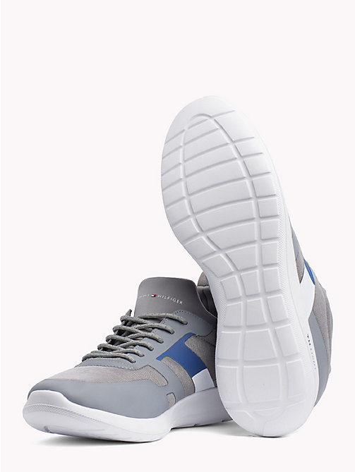 TOMMY HILFIGER Technical Material Trainers - LIGHT GREY - TOMMY HILFIGER Trainers - detail image 1