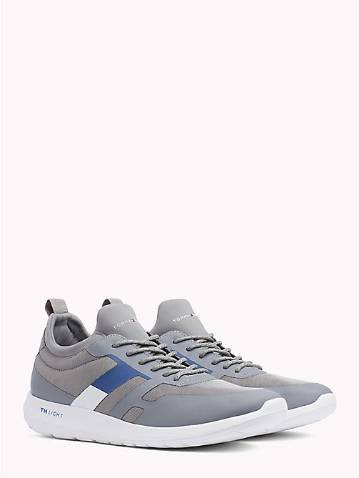 TOMMY HILFIGER Technical Material Trainers - LIGHT GREY - TOMMY HILFIGER Trainers - main image