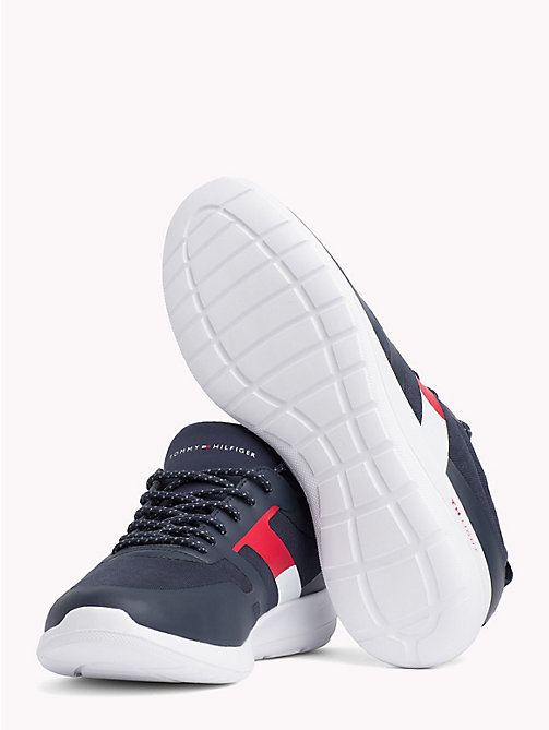 TOMMY HILFIGER Technical Material Trainers - MIDNIGHT - TOMMY HILFIGER Shoes - detail image 1