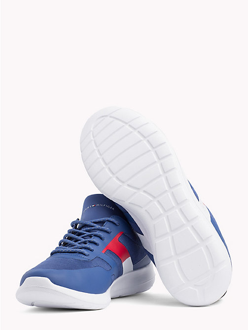 TOMMY HILFIGER Technical Material Trainers - MONACO BLUE - TOMMY HILFIGER NEW IN - detail image 1