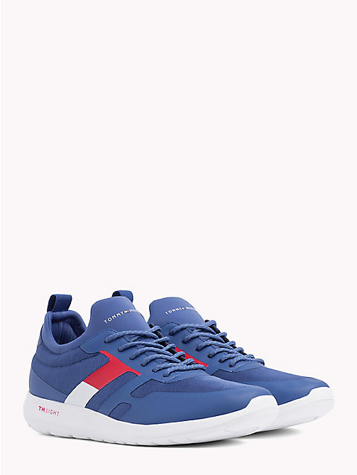 TOMMY HILFIGER Technical Material Trainers - MONACO BLUE - TOMMY HILFIGER NEW IN - main image