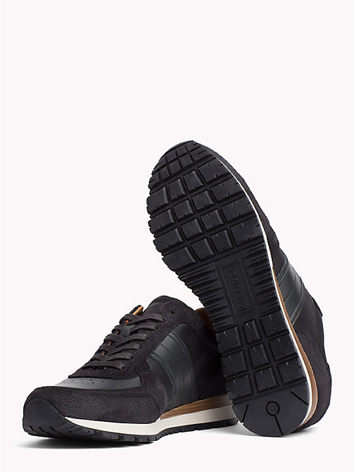 TOMMY HILFIGER Luxury Suede Trainers - BLACK-MAGNET - TOMMY HILFIGER Trainers - detail image 1