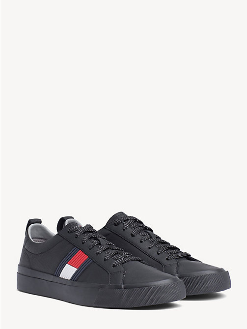 TOMMY HILFIGER Low-Top aus Leder - BLACK - TOMMY HILFIGER NEW IN - main image