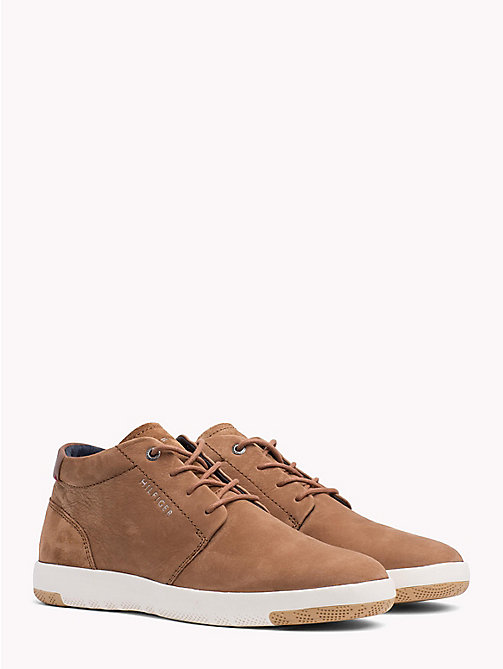 TOMMY HILFIGER Light Nubuck Lace-Up Boots - COGNAC -  Lace-Up Boots - main image