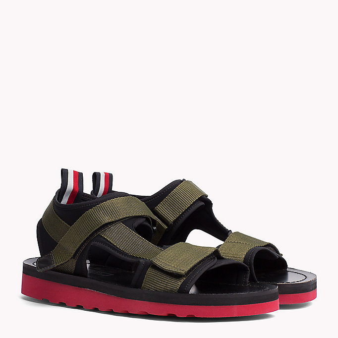 TOMMY HILFIGER ASYMMETRIC STRAP RAFTING SANDAL - BARBADOS CHERRY - TOMMY HILFIGER Men - main image