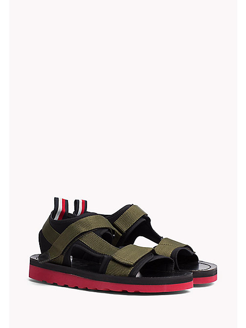 TOMMY HILFIGER ASYMMETRIC STRAP RAFTING SANDAL - DUSTY OLIVE - TOMMY HILFIGER Hilfiger Collection - main image