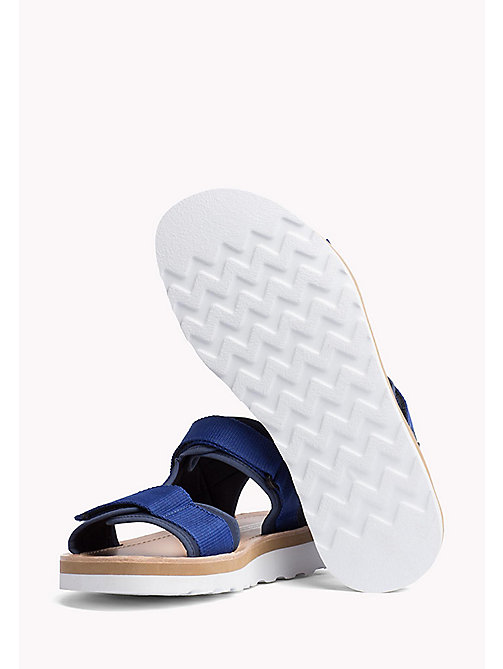 TOMMY HILFIGER ASYMMETRIC STRAP RAFTING SANDAL - MIDNIGHT - TOMMY HILFIGER Hilfiger Collection - detail image 1