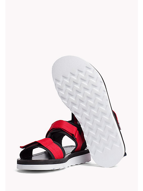 TOMMY HILFIGER ASYMMETRIC STRAP RAFTING SANDAL - BARBADOS CHERRY - TOMMY HILFIGER Hilfiger Collection - detail image 1
