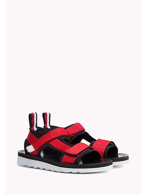 TOMMY HILFIGER ASYMMETRIC STRAP RAFTING SANDAL - BARBADOS CHERRY - TOMMY HILFIGER Hilfiger Collection - main image