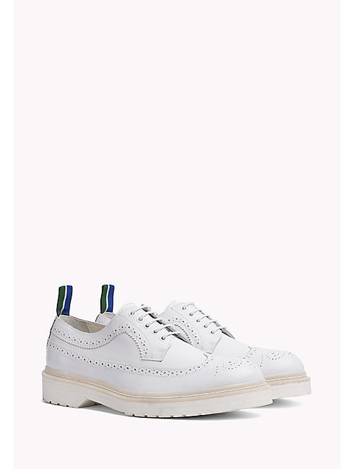 TOMMY HILFIGER Brogues in pelle con suola colorata - WHITE - TOMMY HILFIGER Hilfiger Collection - immagine principale