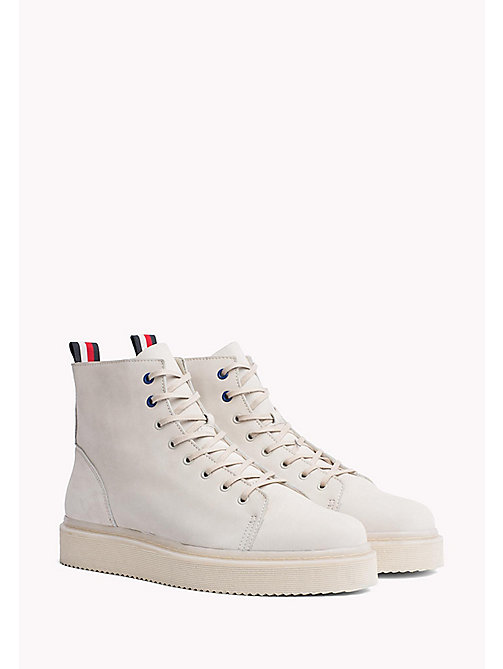 TOMMY HILFIGER Nubuck Leather Baseball Boots - LAMB - TOMMY HILFIGER Hilfiger Collection - image principale