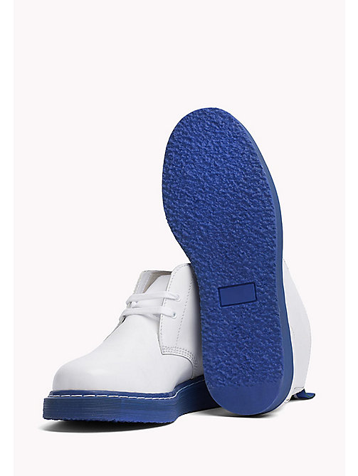 TOMMY HILFIGER Contrast Sole Desert Boot - WHITE - TOMMY HILFIGER Hilfiger Collection - detail image 1