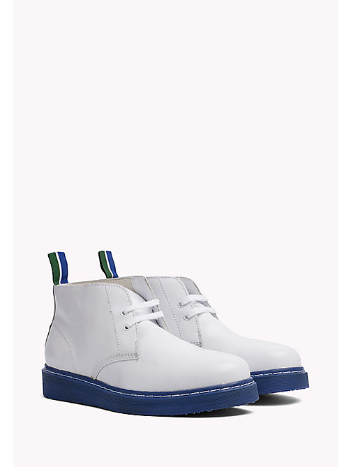 TOMMY HILFIGER Contrast Sole Desert Boot - WHITE - TOMMY HILFIGER Hilfiger Collection - image principale