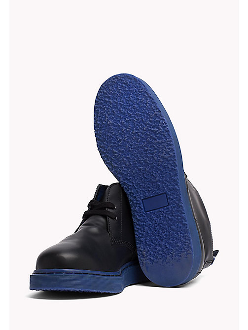 TOMMY HILFIGER Contrast Sole Desert Boot - BLACK/SURF THE WEB - TOMMY HILFIGER Hilfiger Collection - detail image 1