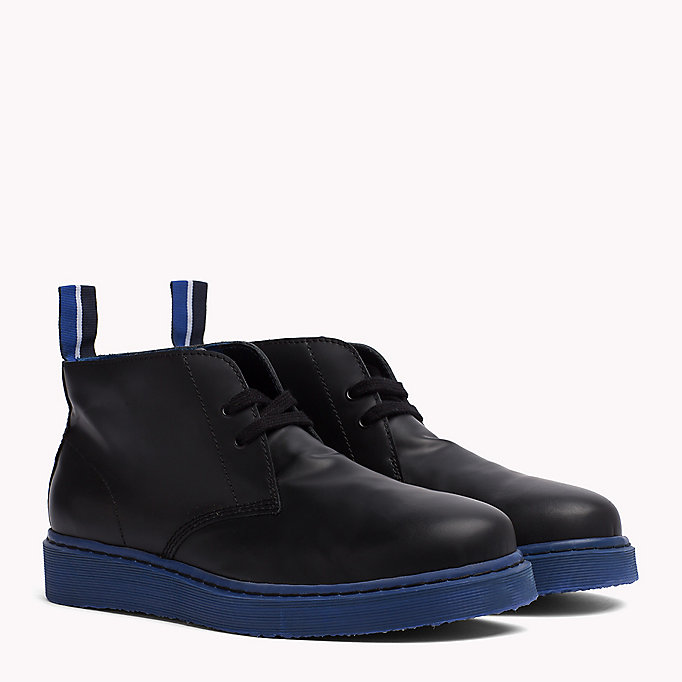 TOMMY HILFIGER Contrast Sole Desert Boot - BLACK/BARBADOS CHERRY - TOMMY HILFIGER Shoes - main image