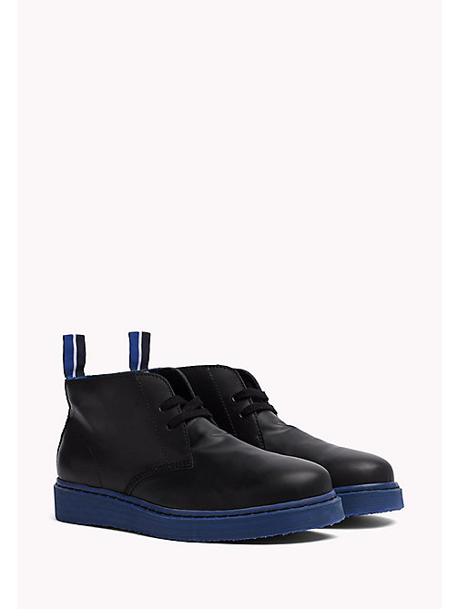 TOMMY HILFIGER Contrast Sole Desert Boot - BLACK/SURF THE WEB - TOMMY HILFIGER Hilfiger Collection - main image