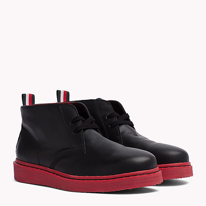 TOMMY HILFIGER Contrast Sole Desert Boot - WHITE - TOMMY HILFIGER Shoes - main image