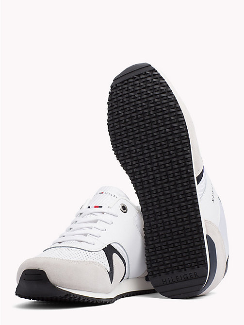 TOMMY HILFIGER Iconic Leather Textile Runners - WHITE - TOMMY HILFIGER Trainers - detail image 1