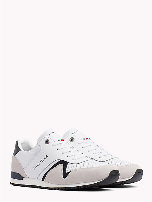 TOMMY HILFIGER Iconic Leather Textile Runners - WHITE - TOMMY HILFIGER Best Sellers - main image