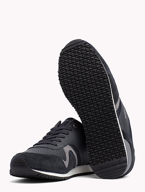 TOMMY HILFIGER Iconic Leather Textile Runners - MIDNIGHT - TOMMY HILFIGER NEW IN - detail image 1