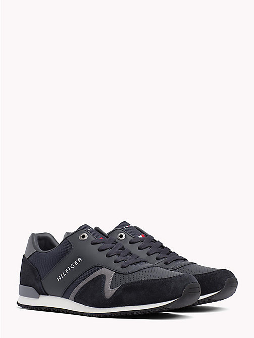 TOMMY HILFIGER Iconic Leather Textile Runners - MIDNIGHT - TOMMY HILFIGER Shoes - main image