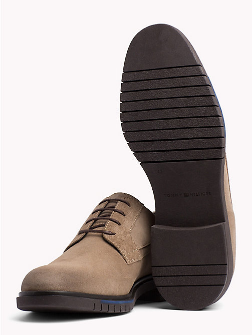 TOMMY HILFIGER Flexible Sole Suede Oxford Shoes - TAUPE GREY - TOMMY HILFIGER Lace-up Shoes - detail image 1