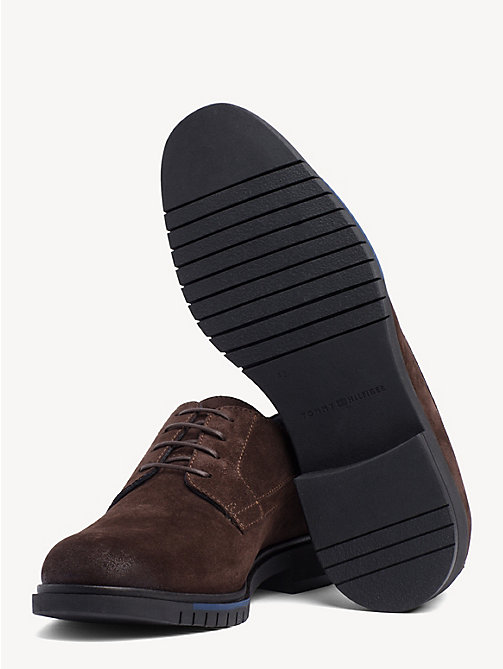 TOMMY HILFIGER Flexible Sole Suede Oxford Shoes - COFFEE BEAN - TOMMY HILFIGER Lace-up Shoes - detail image 1