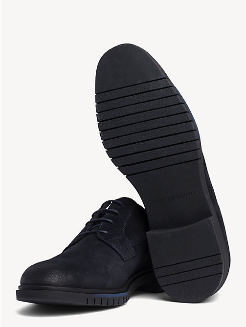 TOMMY HILFIGER Flexible Sole Suede Oxford Shoes - MIDNIGHT - TOMMY HILFIGER Lace-up Shoes - detail image 1