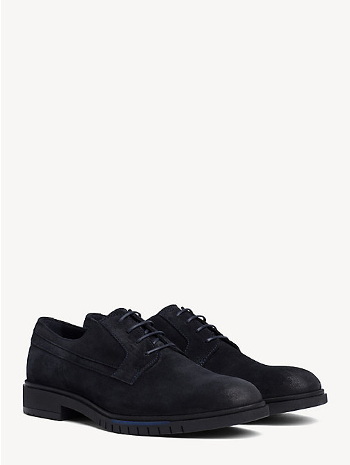TOMMY HILFIGER Flexible Sole Suede Oxford Shoes - MIDNIGHT - TOMMY HILFIGER Lace-up Shoes - main image