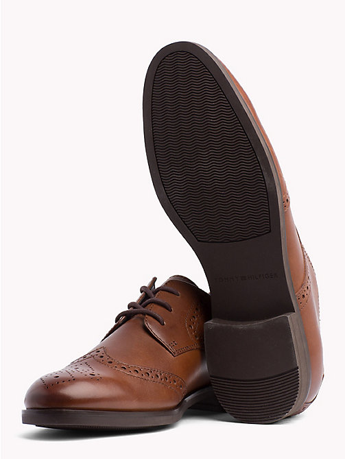 TOMMY HILFIGER Smart Leather Brogues - WINTER COGNAC - TOMMY HILFIGER Shoes - detail image 1