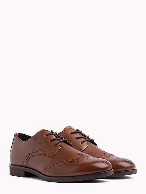 TOMMY HILFIGER Smart Leather Brogues - WINTER COGNAC - TOMMY HILFIGER Shoes - main image