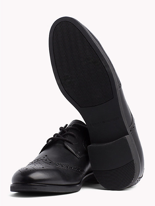 TOMMY HILFIGER Smart Leather Brogues - BLACK - TOMMY HILFIGER Lace-up Shoes - detail image 1