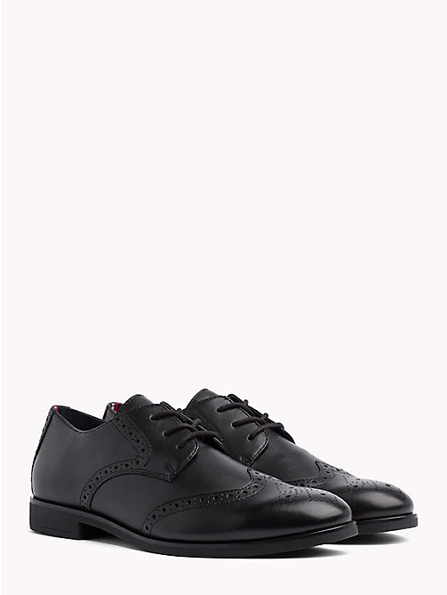 TOMMY HILFIGER Smart Leather Brogues - BLACK - TOMMY HILFIGER Lace-up Shoes - main image