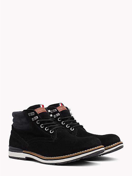 TOMMY HILFIGER Suede Hiking Boots - BLACK - TOMMY HILFIGER Lace-Up Boots - main image