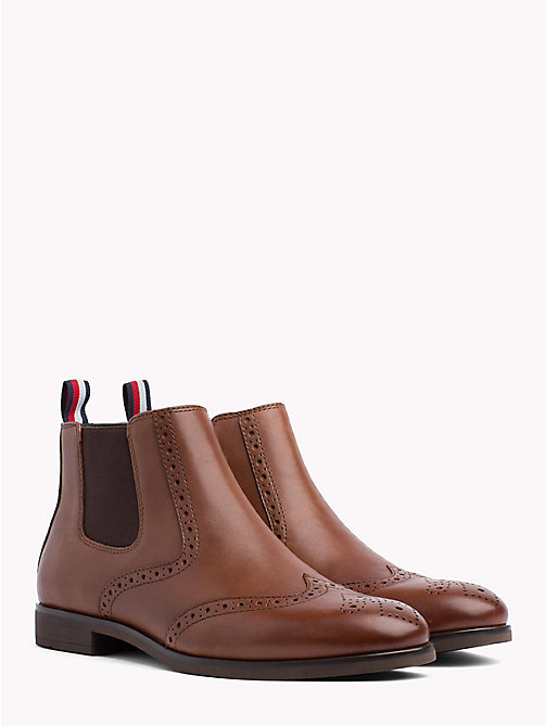 TOMMY HILFIGER Smart Leather Chelsea Boots - WINTER COGNAC - TOMMY HILFIGER Chelsea Boots - main image
