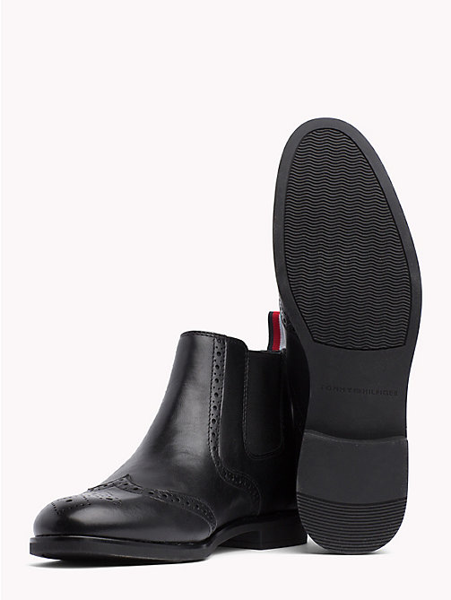 TOMMY HILFIGER Smart Leather Chelsea Boots - BLACK - TOMMY HILFIGER Chelsea Boots - detail image 1