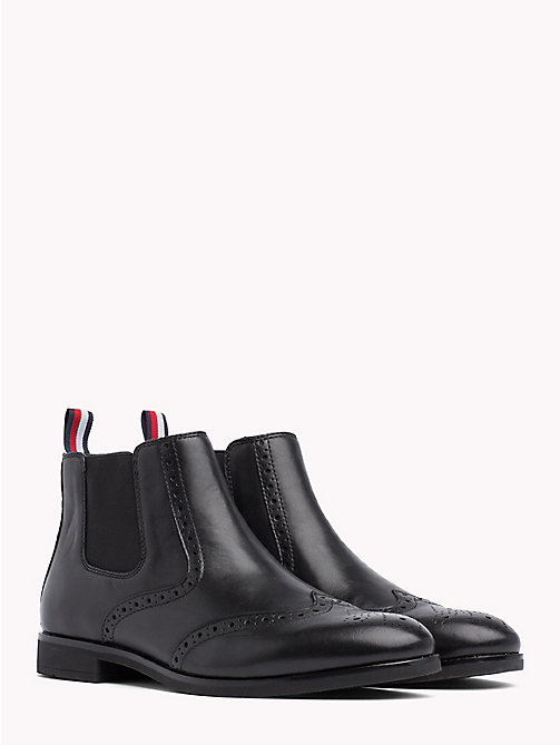 TOMMY HILFIGER Smart Leather Chelsea Boots - BLACK - TOMMY HILFIGER Chelsea Boots - main image
