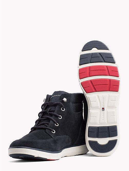 TOMMY HILFIGER Lightweight Lace-Up Ankle Boots - MIDNIGHT - TOMMY HILFIGER Lace-Up Boots - detail image 1