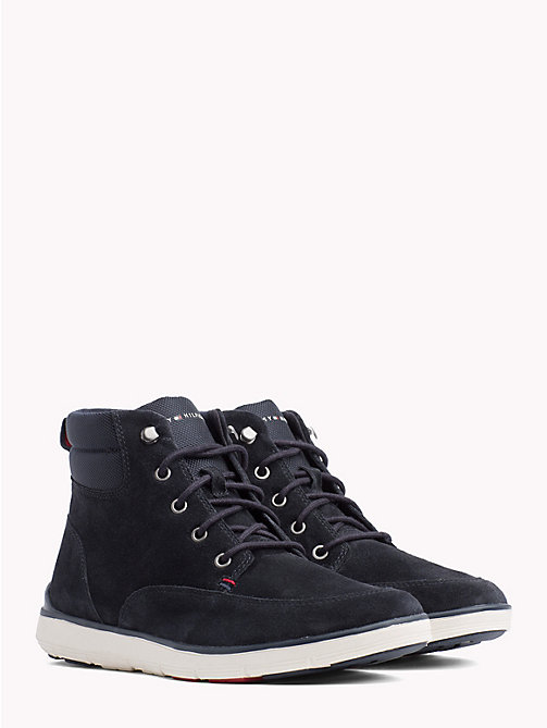 TOMMY HILFIGER Lightweight Lace-Up Ankle Boots - MIDNIGHT - TOMMY HILFIGER Lace-Up Boots - main image