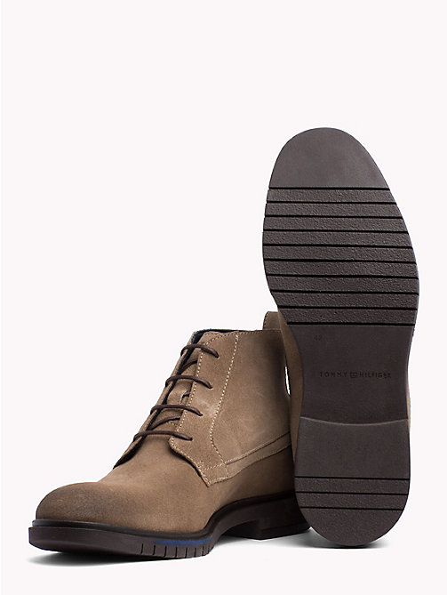 TOMMY HILFIGER Flexible Sole Suede Chukka Boots - TAUPE GREY - TOMMY HILFIGER Lace-Up Boots - detail image 1