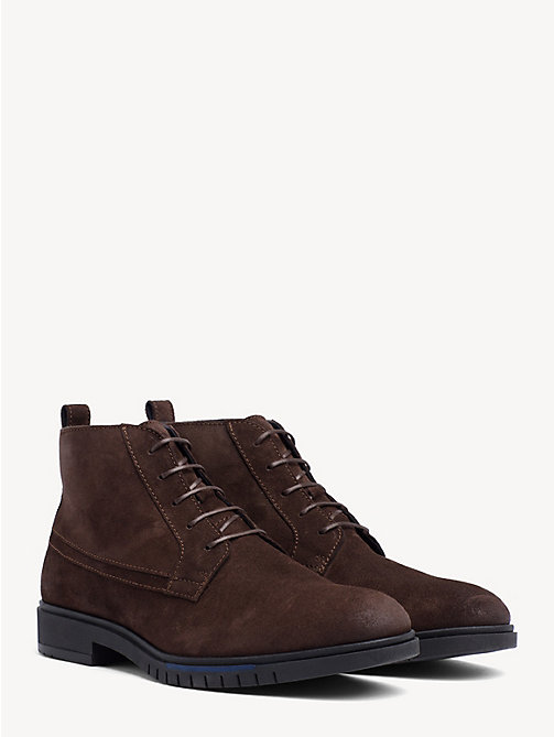 TOMMY HILFIGER Flexible Sole Suede Chukka Boots - COFFEE BEAN - TOMMY HILFIGER Lace-Up Boots - main image