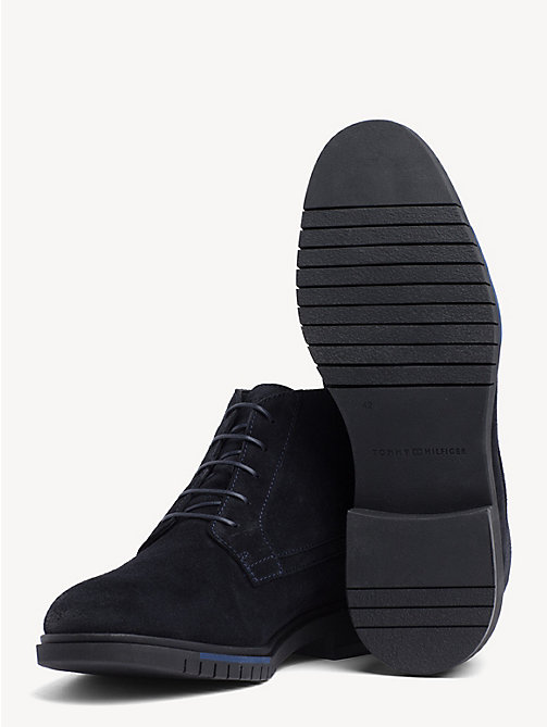 TOMMY HILFIGER Flexible Sole Suede Chukka Boots - MIDNIGHT - TOMMY HILFIGER Lace-Up Boots - detail image 1