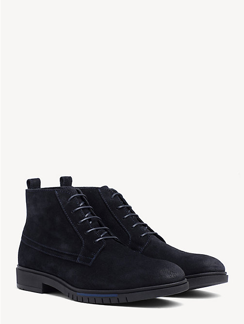 TOMMY HILFIGER Flexible Sole Suede Chukka Boots - MIDNIGHT - TOMMY HILFIGER Lace-Up Boots - main image