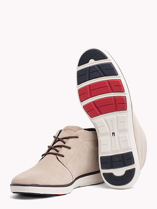 TOMMY HILFIGER Leichter Lace-up Wildleder-Boot - TAUPE - TOMMY HILFIGER NEW IN - main image 1