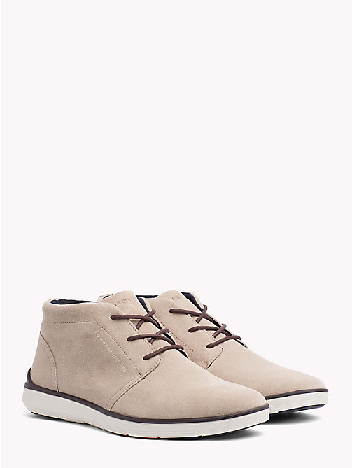 TOMMY HILFIGER Suede Lace-Up Lightweight Boots - TAUPE - TOMMY HILFIGER Lace-Up Boots - main image
