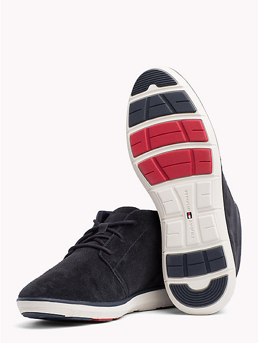 TOMMY HILFIGER Leichter Lace-up Wildleder-Boot - MIDNIGHT - TOMMY HILFIGER NEW IN - main image 1