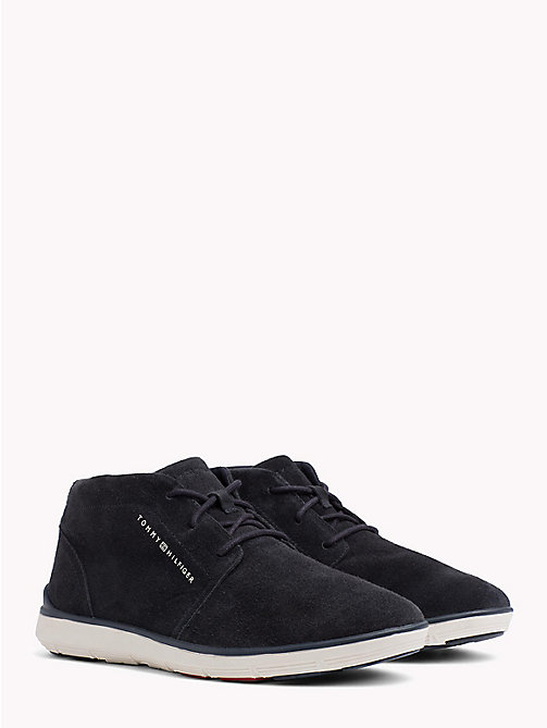 TOMMY HILFIGER Suede Lace-Up Lightweight Boots - MIDNIGHT - TOMMY HILFIGER NEW IN - main image