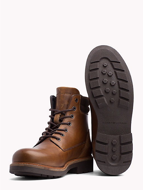 TOMMY HILFIGER Lace-Up Ankle Boots - WINTER COGNAC - TOMMY HILFIGER Lace-Up Boots - detail image 1