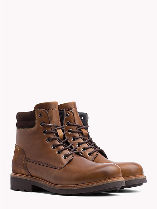 TOMMY HILFIGER Lace-Up Ankle Boots - WINTER COGNAC - TOMMY HILFIGER Lace-Up Boots - main image