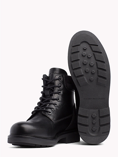 TOMMY HILFIGER Lace-Up Ankle Boots - BLACK - TOMMY HILFIGER Shoes - detail image 1